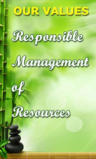 Responsible management of resources